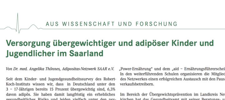 Adipositas Netzwerk im Ärzteblatt